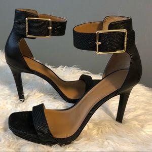 Vable Ankle-Strap Square Toe Platform Sandals